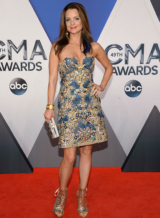 <div class='meta'><div class='origin-logo' data-origin='none'></div><span class='caption-text' data-credit='Evan Agostini/Invision/AP'>Kimberly Williams-Paisley arrives at the 49th annual CMA Awards at the Bridgestone Arena on Wednesday, Nov. 4, 2015, in Nashville, Tenn.</span></div>
