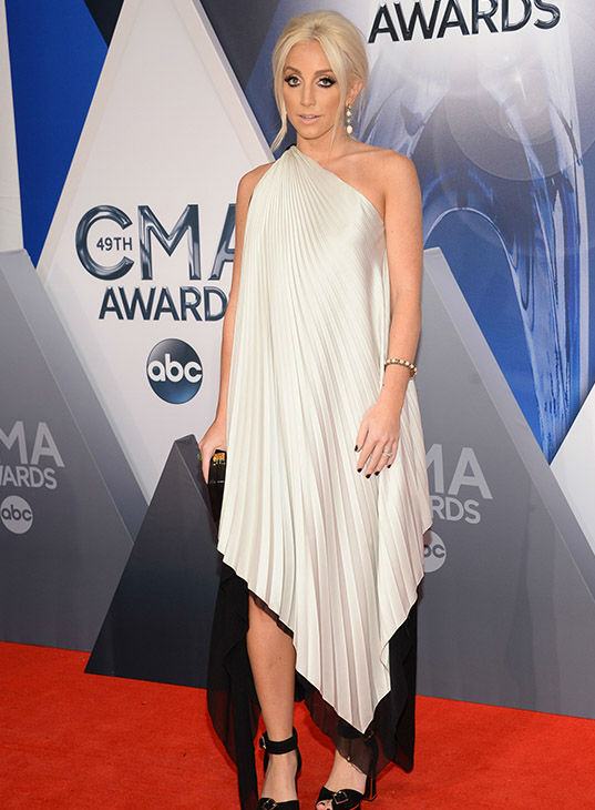 <div class='meta'><div class='origin-logo' data-origin='none'></div><span class='caption-text' data-credit='Evan Agostini/Invision/AP'>Ashley Monroe arrives at the 49th annual CMA Awards at the Bridgestone Arena on Wednesday, Nov. 4, 2015, in Nashville, Tenn.</span></div>