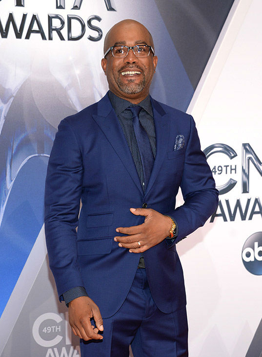 <div class='meta'><div class='origin-logo' data-origin='none'></div><span class='caption-text' data-credit='Evan Agostini/Invision/AP'>Darius Rucker arrives at the 49th annual CMA Awards at the Bridgestone Arena on Wednesday, Nov. 4, 2015, in Nashville, Tenn</span></div>