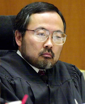 "Superior Court Judge Lance Ito listens during a hearing for Efren Saldivar, the self-proclaimed ""angel of death,"" Tuesday, March 12, 2002, in Los Angeles."
