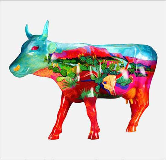 <div class='meta'><div class='origin-logo' data-origin='none'></div><span class='caption-text' data-credit='KTRK Photo/ Children's Museum of Houston'>ABC-13's Kevin Quinn has located the Children's Museum of Houston's stolen cow statue in a culvert</span></div>