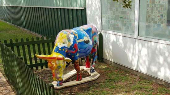 <div class='meta'><div class='origin-logo' data-origin='none'></div><span class='caption-text' data-credit='KTRK Photo/ Children's Museum of Houston'>Where the cow statue was stolen at the Children's Museum of Houston. The cow has been located by Eyewitness News.</span></div>