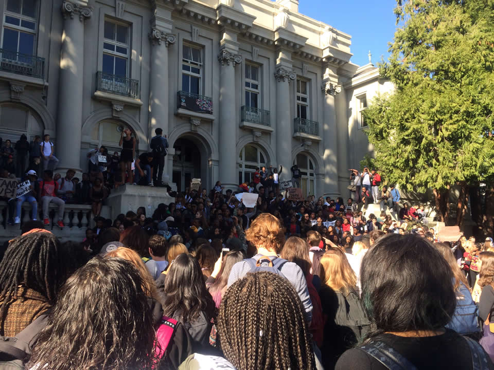 "<div class=""meta image-caption""><div class=""origin-logo origin-image none""><span>none</span></div><span class=""caption-text"">On Thursday, November 5, 2015, Berkeley High School students walked out and protested after a racist message was left on a library computer in Berkeley, Calif.</span></div>"