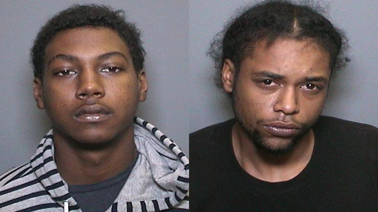 Devan Howard (left) and Leon Tippit (right), who the Orange County Sheriff's Department said robbed Fredric H. Rubel Jewelers at The Shops at Mission Viejo on Oct. 21, 2015.