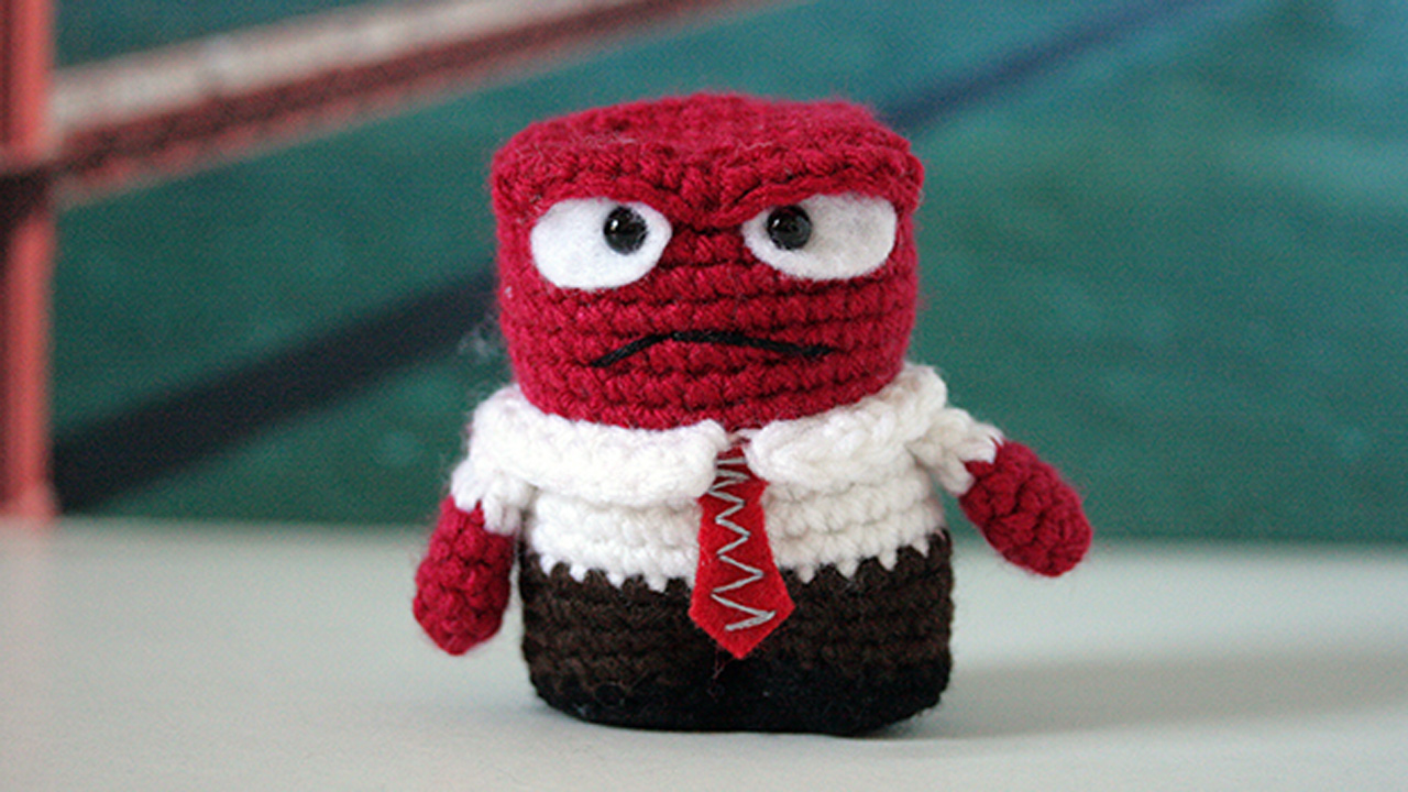 'Crochet ninja' will leave clues to find Pixar characters in San Francisco, Friday, November 6, 2015.