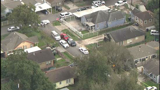<div class='meta'><div class='origin-logo' data-origin='none'></div><span class='caption-text' data-credit='KTRK Photo/ KTRK'>Aerial pictures from SkyEye HD over a home where two people -- a mother and child -- were found dead in southeast Houston today.</span></div>