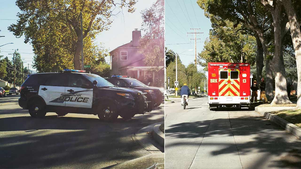 Burbank police and firefighters respond to a barricade situation involving hostages in the 1700 block of N. Rose Street on Saturday, Nov. 7, 2015.