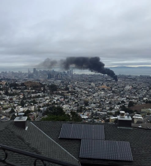 "<div class=""meta image-caption""><div class=""origin-logo origin-image none""><span>none</span></div><span class=""caption-text"">Crews battled a 3-alarm fire at Rolling Stock in San Francisco, Calif. on Sunday, November 8, 2015. (Photo submitted to KGO-TV by @EricPingul/Twitter)</span></div>"