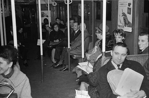 <div class='meta'><div class='origin-logo' data-origin='none'></div><span class='caption-text' data-credit='AP Photo / Jerry Mosey'>Passengers sit patiently in near-darkness in a stalled subway car at West 4th Street in the Manhattan section of New York, Nov. 9, 1965.</span></div>