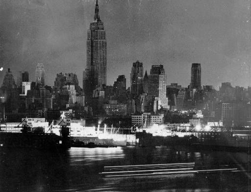 <div class='meta'><div class='origin-logo' data-origin='none'></div><span class='caption-text' data-credit='AP Photo/ Phil Lane'>Manhattan skyscrapers and apartment buildings are dark shortly after 6 p.m. Nov.9,1965 during New York City's massive blackout.</span></div>