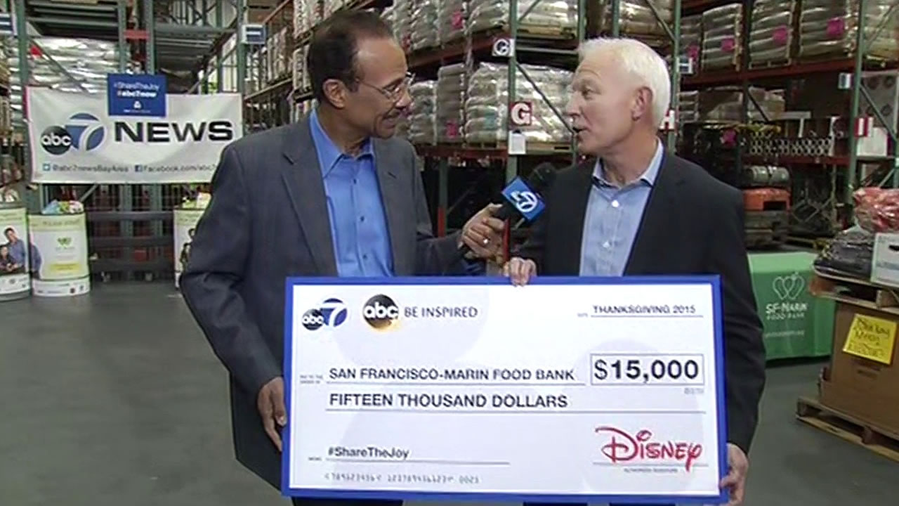 Abc7 Disney Donates 15000 To Sf Marin Food Bank In San Francisco