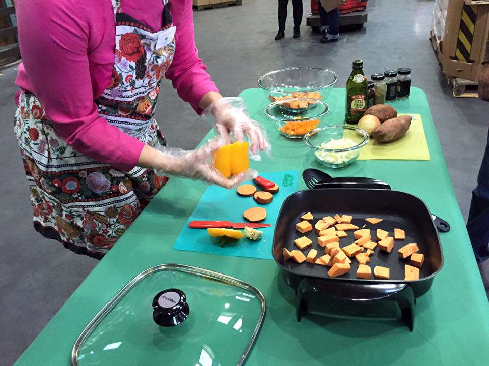 "<div class=""meta image-caption""><div class=""origin-logo origin-image none""><span>none</span></div><span class=""caption-text"">Nutrition Education Program Manager Molly Burke introduces us to a Sweet Potato Hash recipe at SF-Marin Food Bank in San Francisco on Monday, November 9, 2015. (KGO-TV)</span></div>"