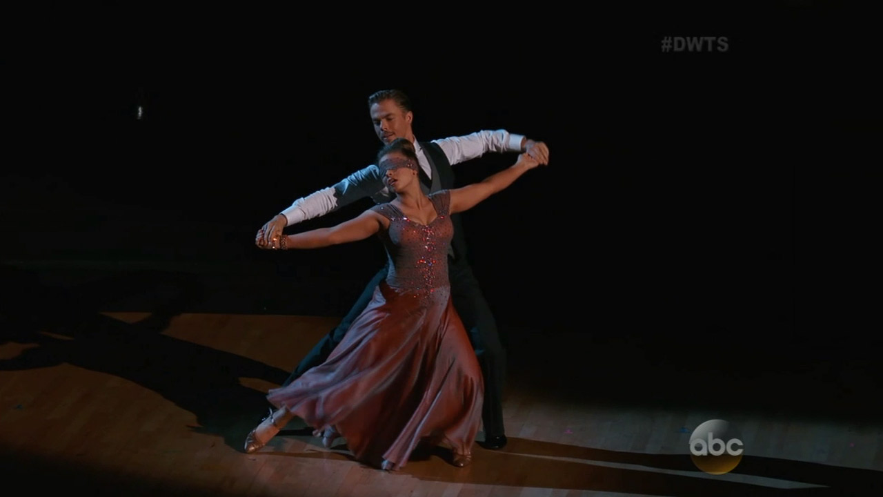 """Bindi Irwin dances with her partner Derek Hough during week 9 of """"Dancing With the Stars"""" on Monday, Nov. 9, 2015."""