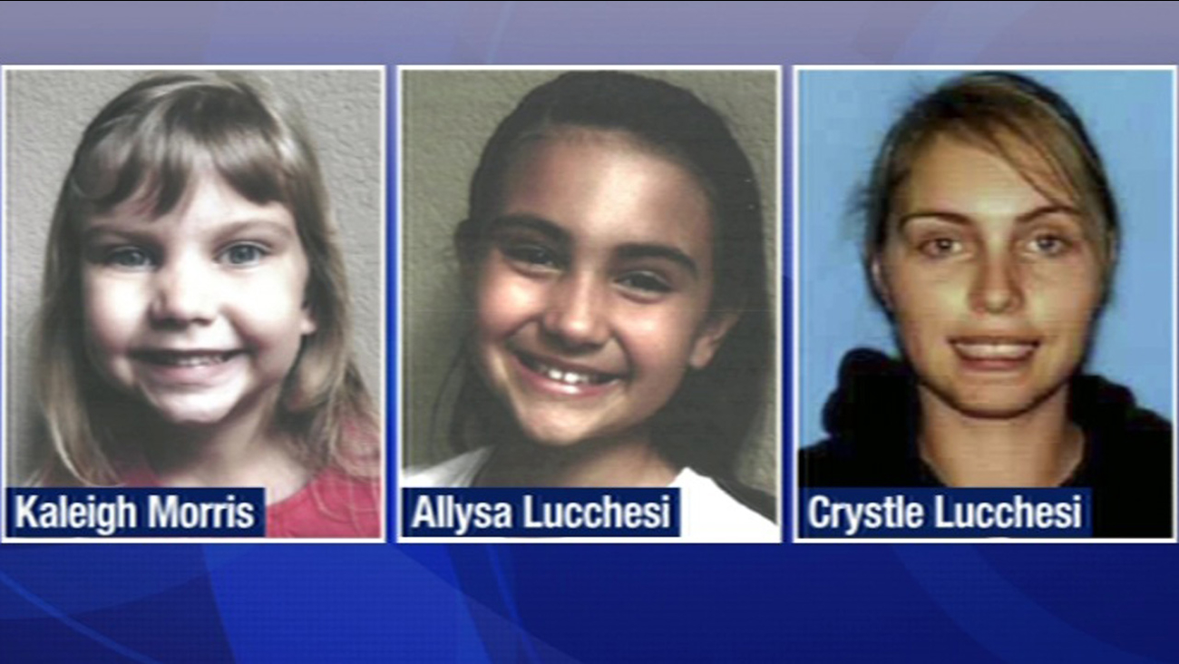 San Jose police are looking for 7-year-old Kaleigh Morris and her sister, 10-year-old Allysa Lucchesi who are believed to be with their mom, 32-year-old Crystle Lucchesi.
