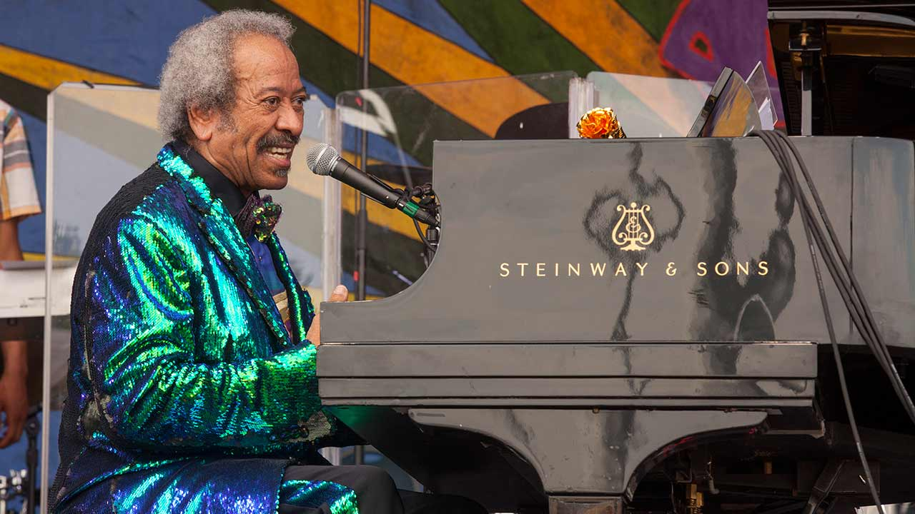 Allen Toussaint performs at the New Orleans Jazz & Heritage Festival, on Sunday, April 26, 2015 in New Orleans.