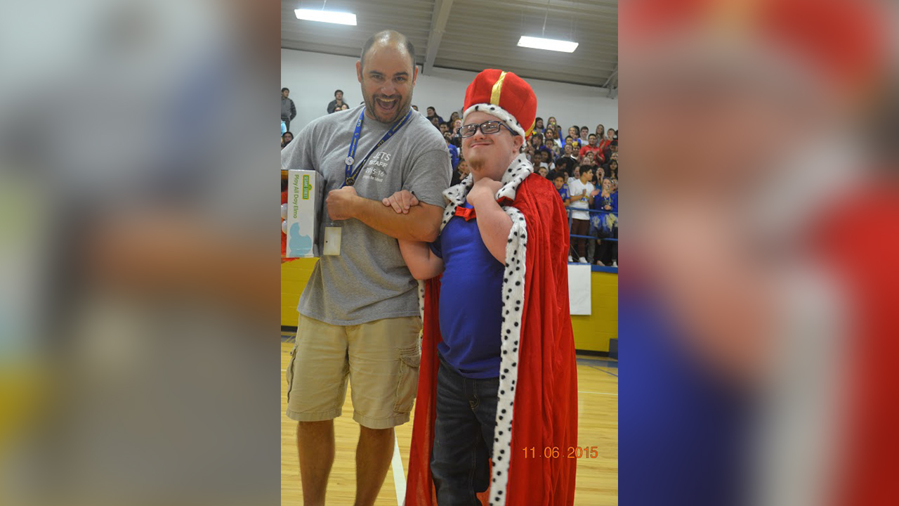 Cody Whitt won Homecoming King at Jordan Matthews High School in Siler City