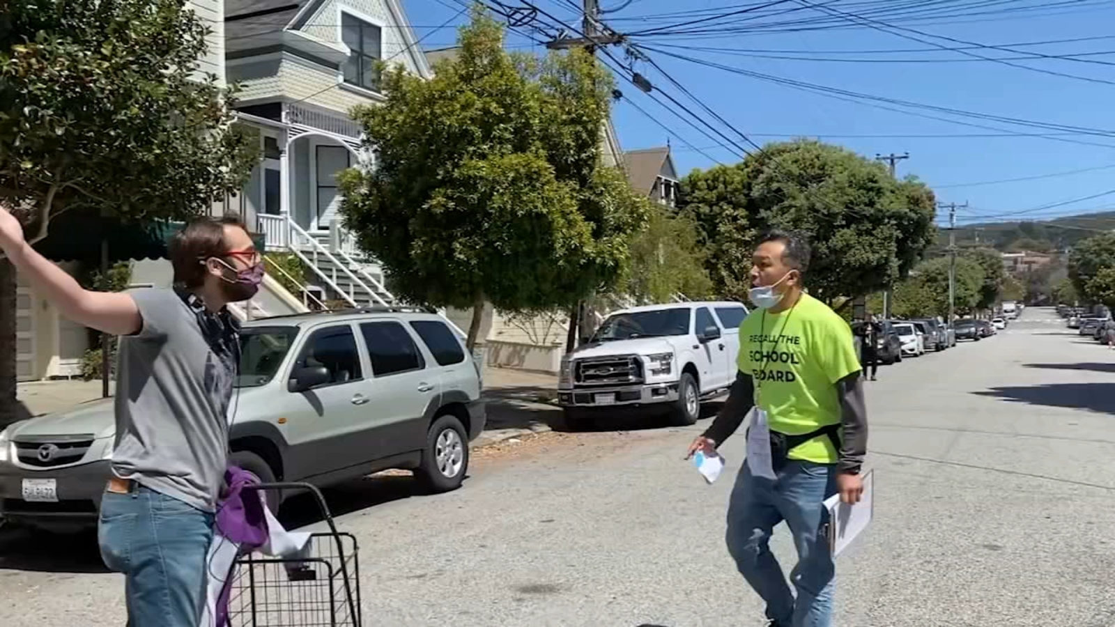 Video shows tense moments after man steals, then returns signatures for SF school board recall