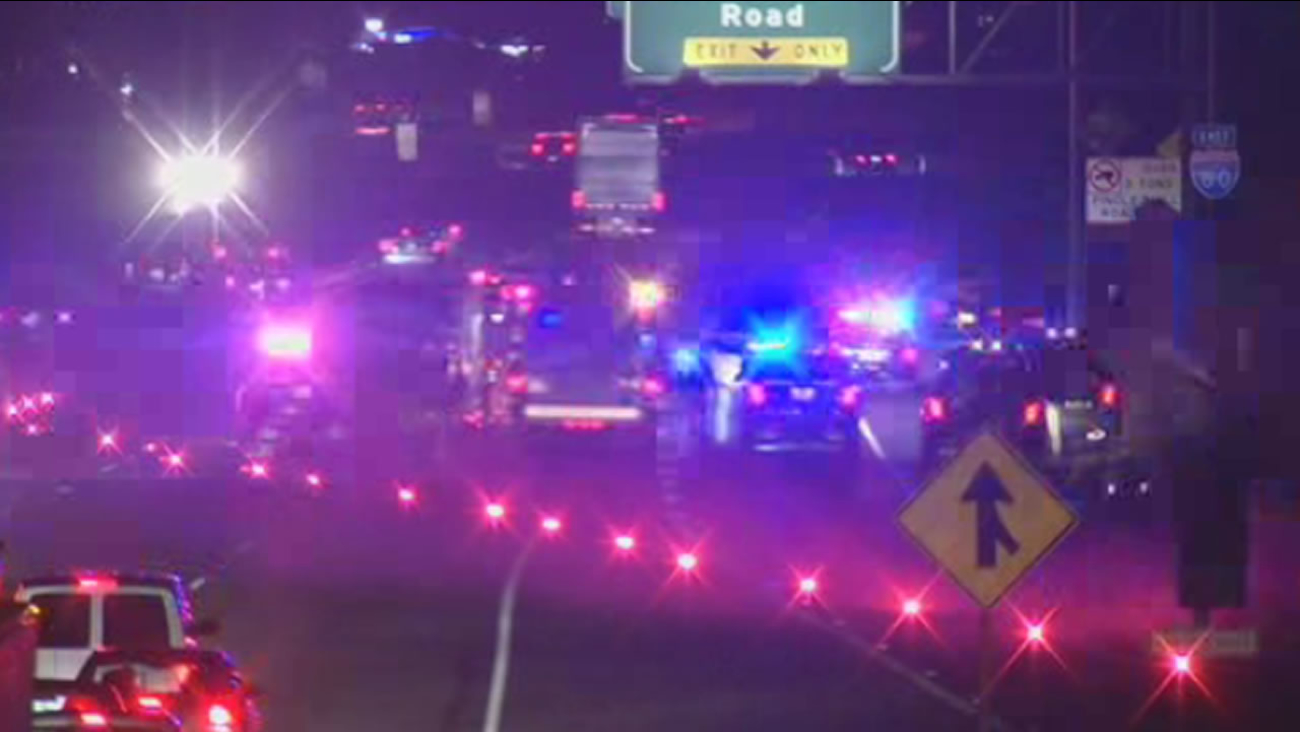 Several lanes of eastbound Interstate 80 in Pinole, Calif. have closed due to police activity.