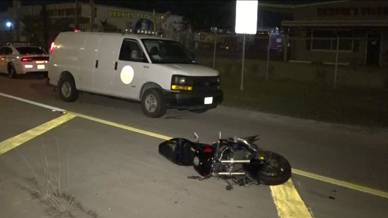 Motorcycle accident at Spring Stuebner Road