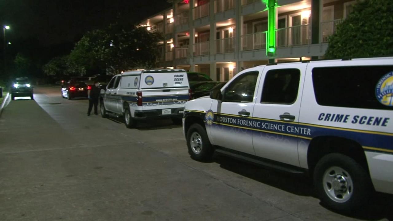 男子在休斯顿西部酒店房间内被刺死后,休斯顿警方对女子进行询问(视频)