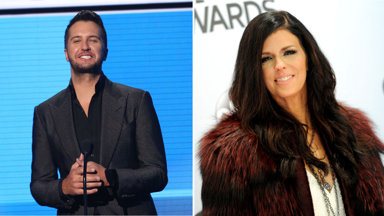 <div class='meta'><div class='origin-logo' data-origin='none'></div><span class='caption-text' data-credit='Matt Sayles/Invision/AP|Evan Agostini/Invision/AP'>Luke Bryan and Karen Fairchild of Little Big Town will perform the world premiere of ''Home Alone Tonight'' during the AMAs.</span></div>