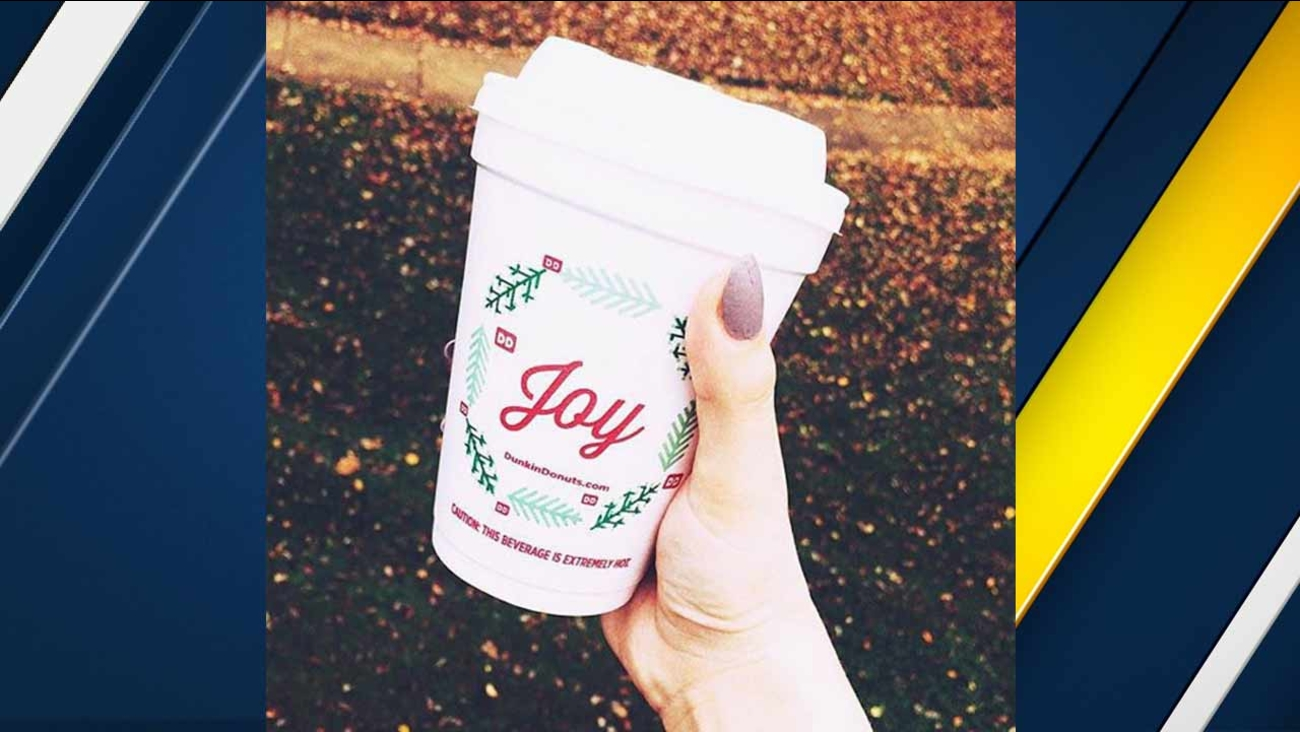 Dunkin' Donuts unveiled its holiday cup on its Instagram account.