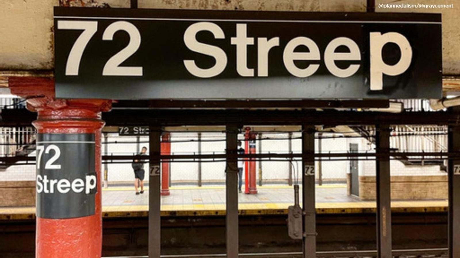 New York City subway station gets makeover for Meryl Streep's birthday