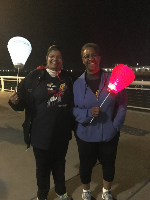 "<div class=""meta image-caption""><div class=""origin-logo origin-image none""><span>none</span></div><span class=""caption-text"">Leslie (left) is a survivor and Toni (right) is walking in support of her friend at the Light the Night Walk at AT&T Park in San Francisco Nov. 12, 2015. (KGO-TV)</span></div>"