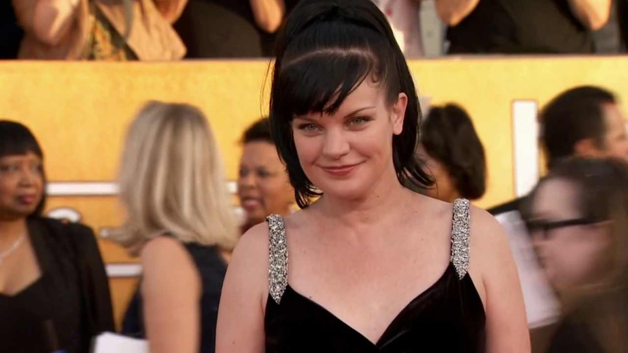 Pauley Perrette arrives at the 20th annual Screen Actors Guild Awards at the Shrine Auditorium on Saturday, Jan. 18, 2014, in Los Angeles.