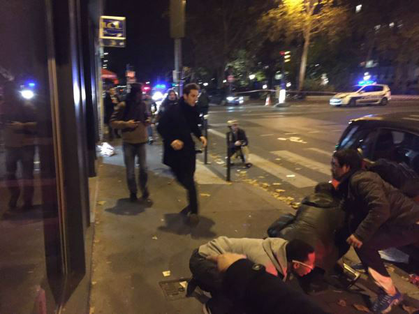 <div class='meta'><div class='origin-logo' data-origin='none'></div><span class='caption-text' data-credit='Tiffany Wertheimer / Twitter: @TiffWertheimer9'>Wertheimer writes: People running in panic in central Paris near 10th arrondissement restaurant. Gunman still on the run.</span></div>