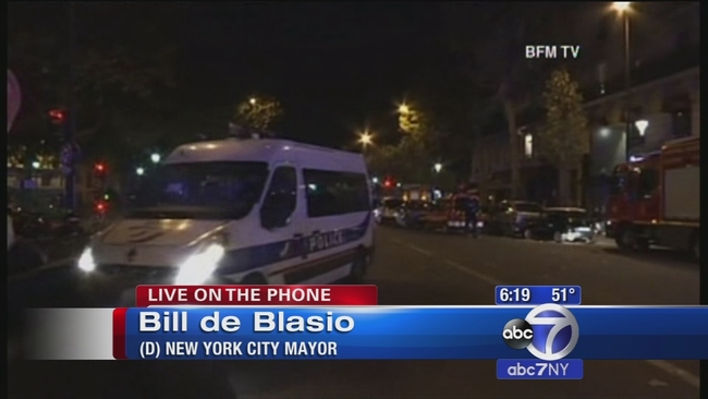 Mayor Bill De Blasio Responds To The Paris Attacks