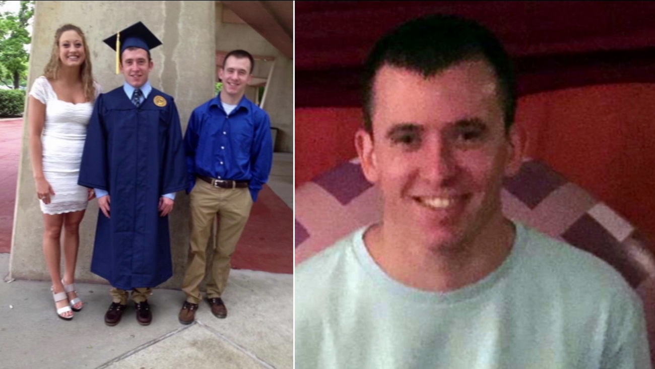 Nick Stevens, 22, is shown in two undated images above.