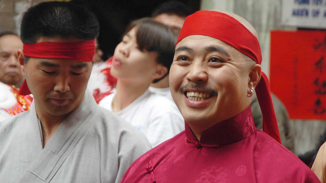 "In this Aug. 6, 2006 file photo, Raymond ""Shrimp Boy"" Chow is shown after being sworn in as the ""Dragon Head"" of the Chee Kung Tong in Chinatown in San Francisco. (AP Photo/Sing Tao Daily, File)"