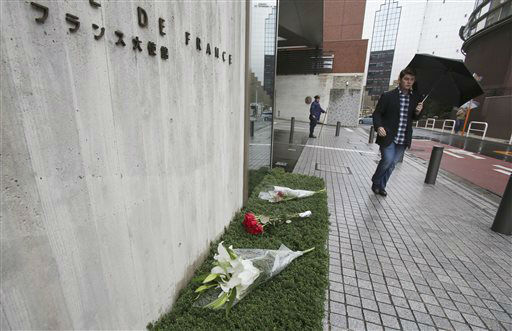 "<div class=""meta image-caption""><div class=""origin-logo origin-image none""><span>none</span></div><span class=""caption-text"">Flowers are laid outside the French Embassy in Tokyo, Saturday, Nov. 14, 2015. (AP Photo/ Koji Sasahara)</span></div>"