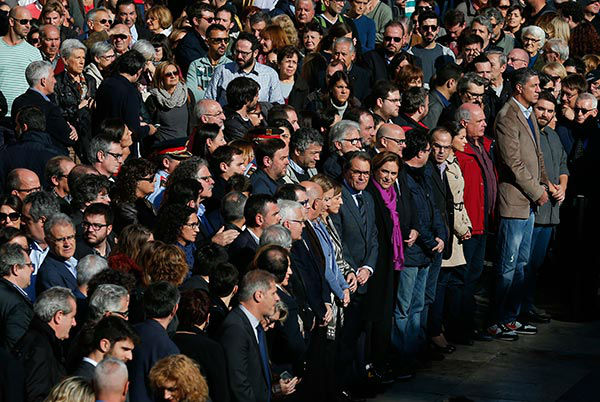 "<div class=""meta image-caption""><div class=""origin-logo origin-image none""><span>none</span></div><span class=""caption-text"">People observe a minute of silence for the victims killed in the Friday's attacks in Paris at the Sant Jaume square in Barcelona, Spain, Saturday, Nov. 14, 2015. (AP Photo/ Manu Fernandez)</span></div>"