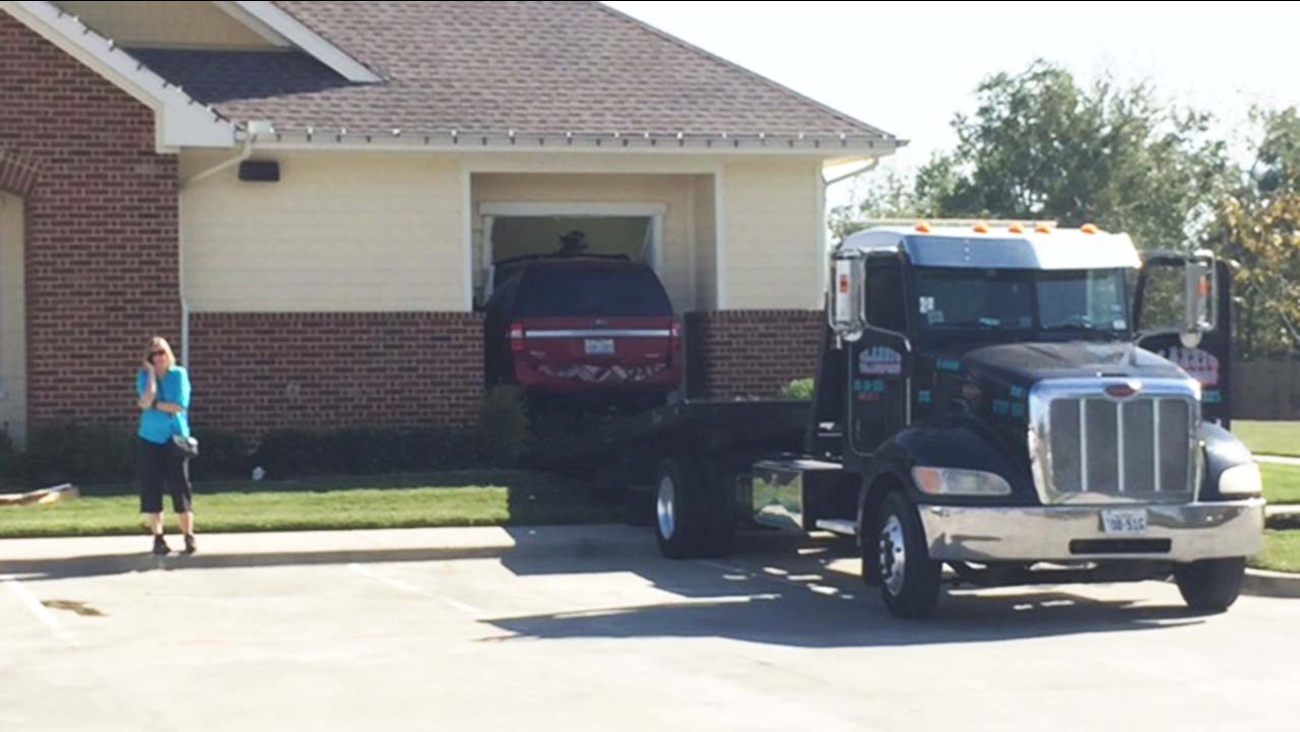 Assisted living facility - SUV inside