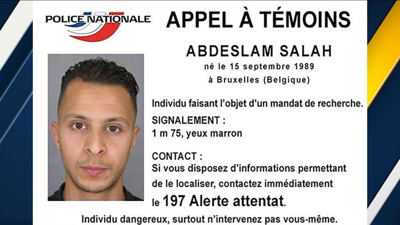 French police launched an international manhunt Sunday, Nov. 15, 2015 for Salah Abdeslam, a 26-year-old born in Brussels.