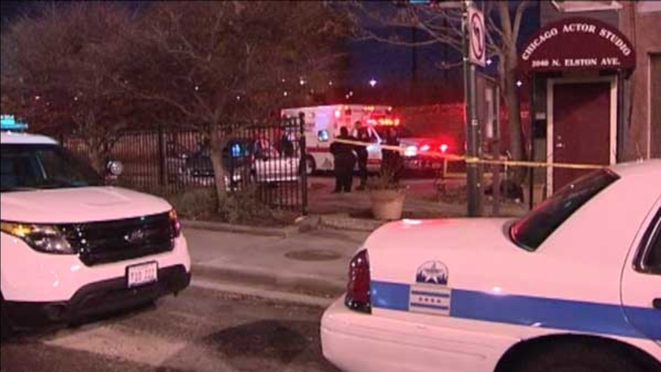 A 36-year-old man was attacked outside the Chicago Actors Studio in the city's Bucktown neighborhood.