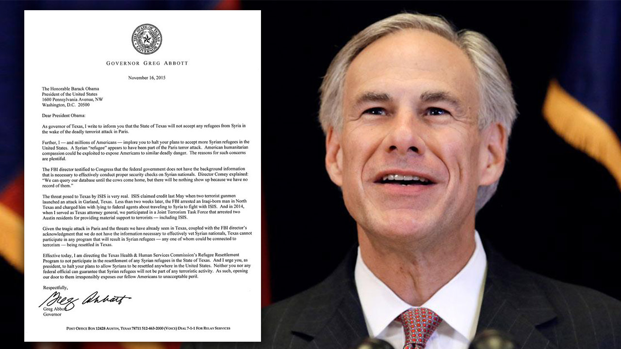 Governor Greg Abbott's open letter to President Obama