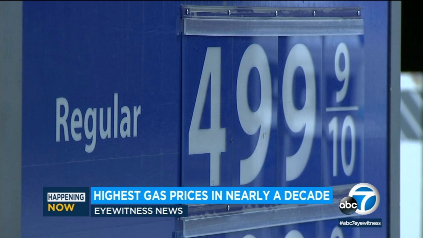Pain at the pump intensifies amid highest gas prices in nearly a decade in SoCal