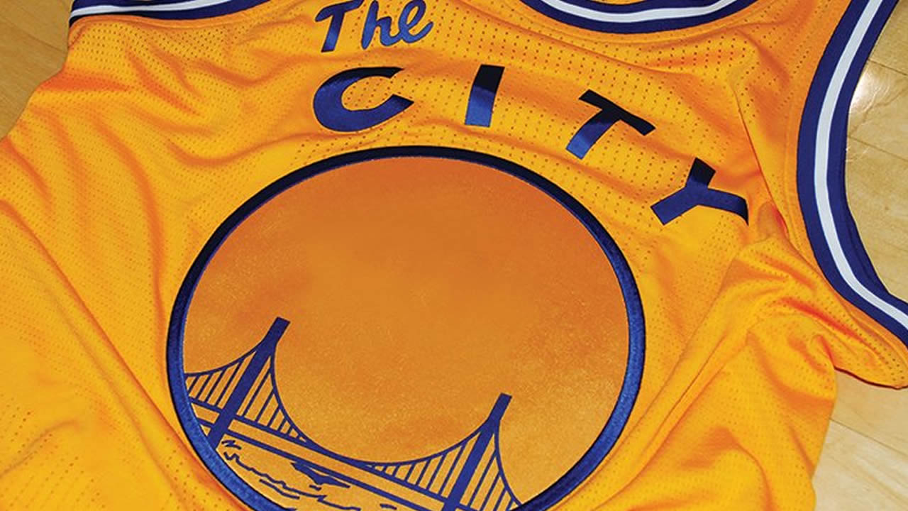 "The Golden State Warriors will wear ""The City"" jerseys for their game against the Toronto Raptors in Oakland, Calif. on Tuesday, November 17, 2015."