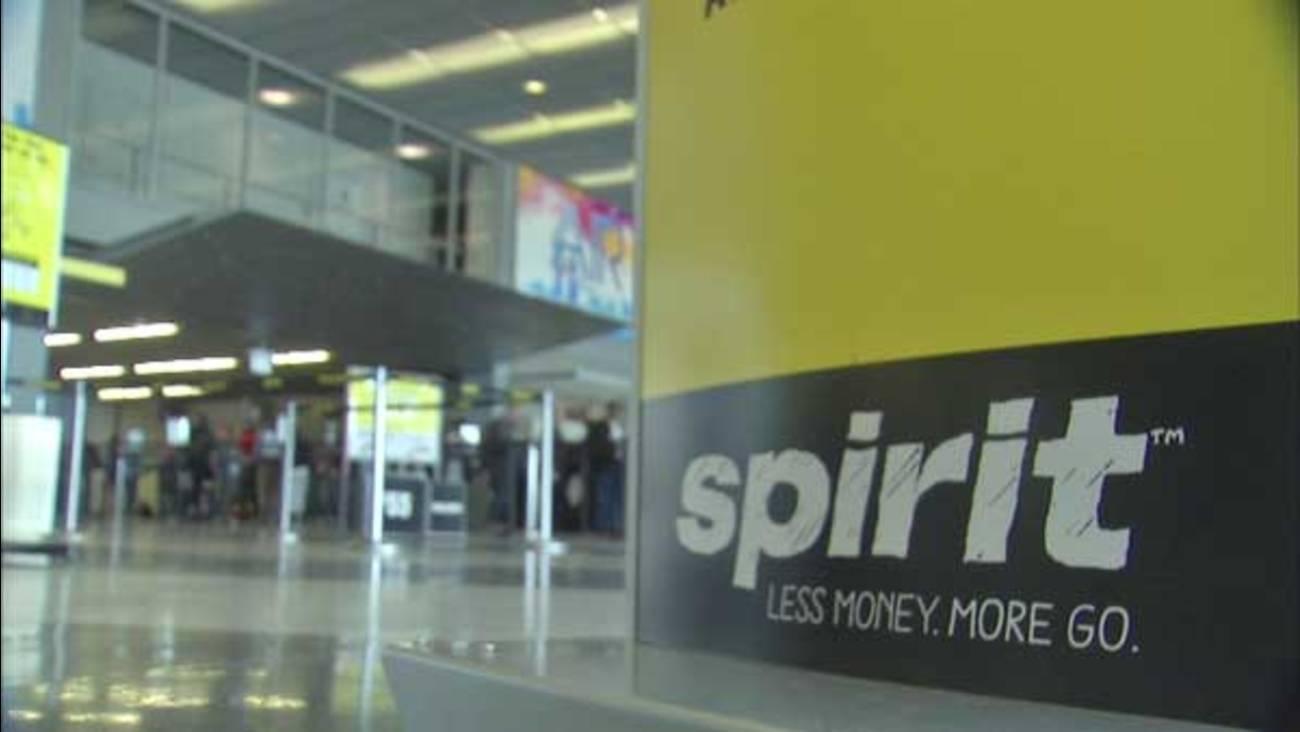 The Spirit Airlines logo is seen in this file photo.