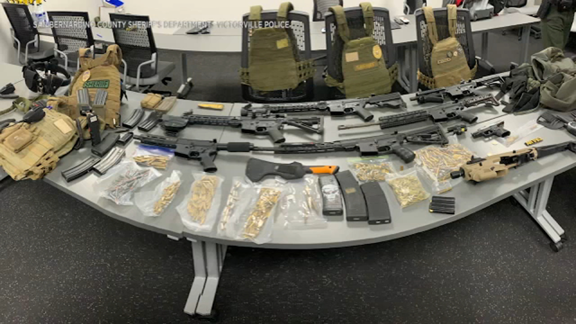 Victorville police find cache of weapons, including multiple AR-15-style rifles, in stolen vehicle