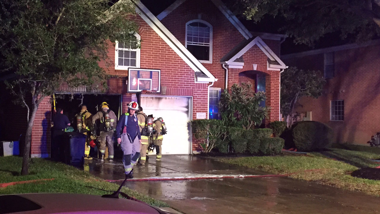 House fire in Katy