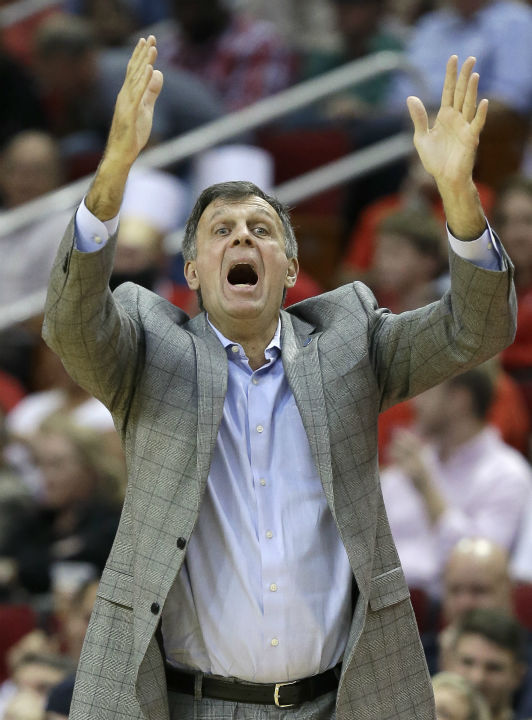 <div class='meta'><div class='origin-logo' data-origin='none'></div><span class='caption-text' data-credit='AP Photo/ Pat Sullivan'>Houston Rockets coach Kevin McHale yells to his players in overtime against the Orlando Magic in an NBA basketball game in Houston. (AP Photo/Pat Sullivan)</span></div>