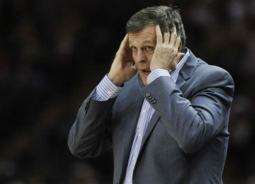 <div class='meta'><div class='origin-logo' data-origin='none'></div><span class='caption-text' data-credit='AP Photo/ Darren Abate'>Houston Rockets coach Kevin McHale reacts to a call during the first half of an NBA basketball game against the San Antonio Spurs,  Dec. 28, 2014.</span></div>