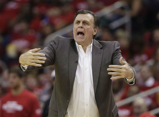 <div class='meta'><div class='origin-logo' data-origin='none'></div><span class='caption-text' data-credit='AP Photo/ David Phillip'>Houston Rockets' Kevin McHale calls to his players during Game 2 in a second-round NBA basketball playoff series against the Los Angeles Clippers, May 6, 2015.</span></div>
