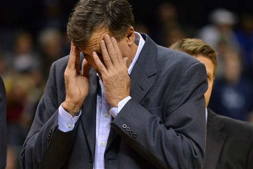 <div class='meta'><div class='origin-logo' data-origin='none'></div><span class='caption-text' data-credit='AP Photo/ Brandon Dill'>Houston Rockets head coach Kevin McHale reacts in the second half of an NBA basketball game against the Memphis Grizzlies,  Nov. 17, 2014.</span></div>