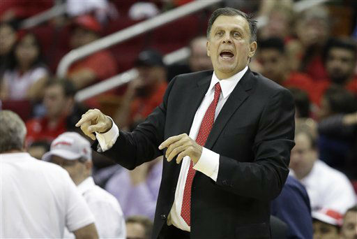 <div class='meta'><div class='origin-logo' data-origin='none'></div><span class='caption-text' data-credit='AP Photo/ Pat Sullivan'>Houston Rockets head coach Kevin McHale yells to his players in the first half of a NBA basketball game against the Denver Nuggets, Oct. 28, 2015.</span></div>