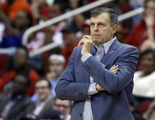 <div class='meta'><div class='origin-logo' data-origin='none'></div><span class='caption-text' data-credit='AP Photo/ Pat Sullivan'>Houston Rockets head coach Kevin McHale watches from the sideline in the first half of an NBA basketball game against the Oklahoma City Thunder, Nov. 2, 2015.</span></div>
